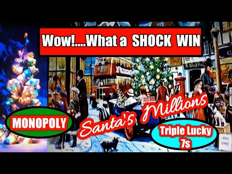 💖ShOcK WiNnEr🎯Monopoly Million Scratchcard😎SANTA's Millions£250.000🚀PAC-MAN.LUCKY 777.TREASURE..