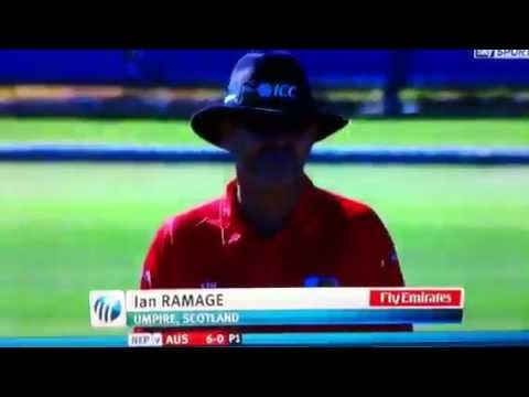 Cricket Scotland Umpire Ian Ramage  Under 19 World Cup 2012