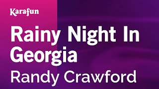 Karaoke Rainy Night In Georgia - Randy Crawford *
