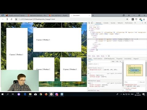 Как сделать таблицу в HTML | Уроки HTML, CSS