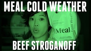 MRE Cold Weather Beef Stroganoff - a US MCW Tasting
