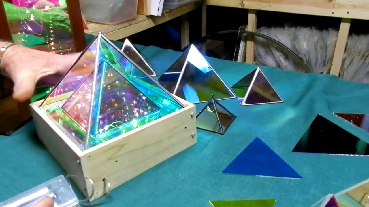 Dichroic Boro Glass Infinity Mirror Effect Pyramids 004 Youtube
