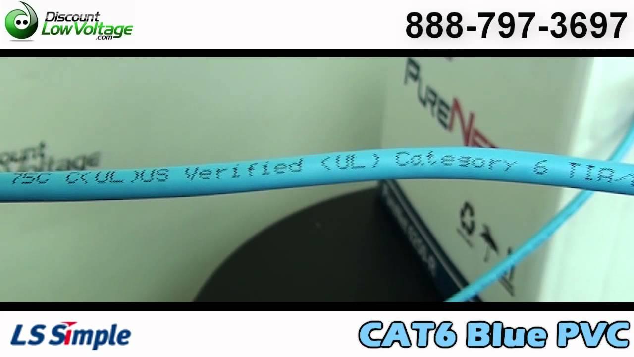 Bulk Cat6 Blue 4 Pair Cable | PVC | LS Cable Purenet - YouTube