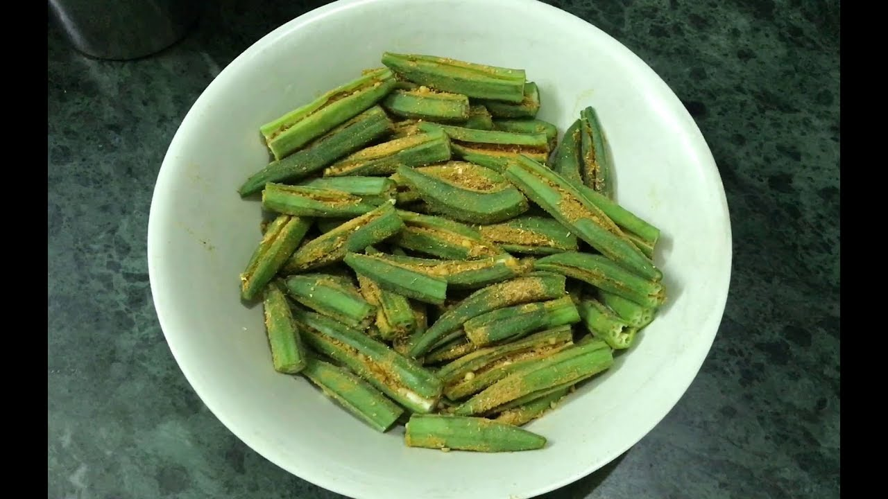 Bharwa Bhindi Recipe Tawa Fry Masala Stuffed Lady Finger In Hindi Okra