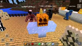 MINECRAFT PE - GOLEM WORLD V4 MOD - MAS GOLEMS! - MODS PARA POCKET EDITION