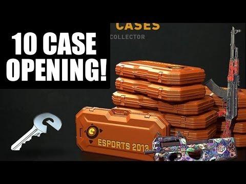 10 Cases of ESPORTS 2013! (Orange ESPORTS 2013) CS GO Case Opening