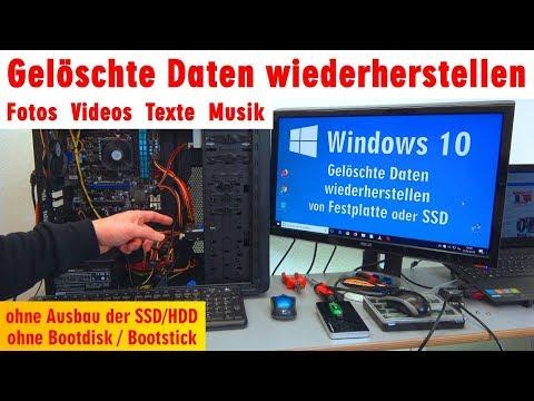 Gelöschte Daten wiederherstellen - Fotos Videos Texte Musik - Windows 10 ohne Ausbau der HDD - [4K]