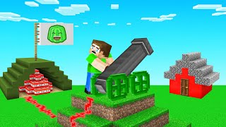 I TROLLED JELLY With His OWN TNT CANNON! (Minecraft)