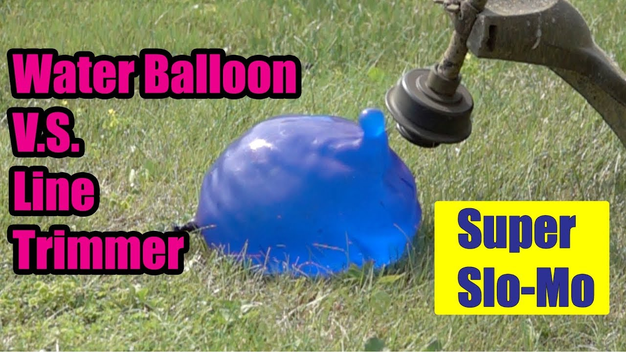 Water Balloon VS Line Trimmer || Super Slow Motion!
