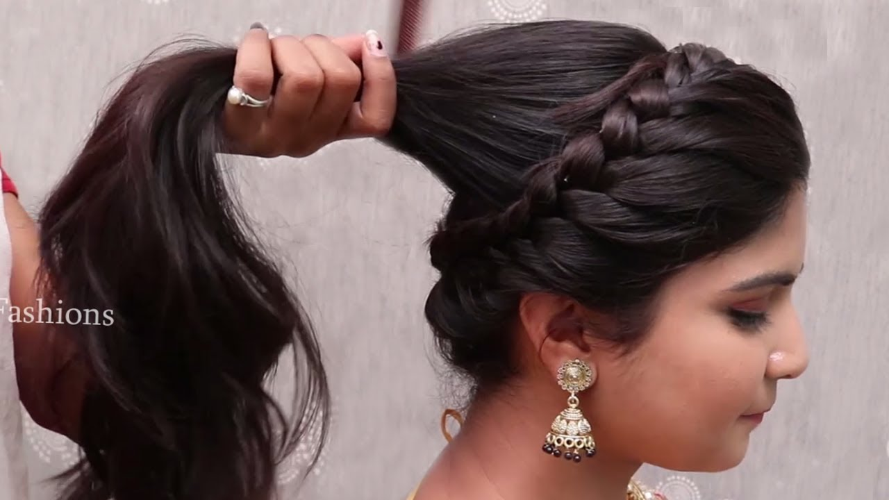 easy bridal hairstyles for christian wedding || latest bridal hairstyle tutorial || hair style girl