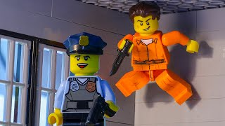 LEGO Land | Lego City Police Station Prison Break | Lego Diamond Heist | Lego Stop Motion