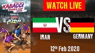 Kabaddi World Cup 2020 Live Iran vs Germany 12 Feb Match 10 BSports