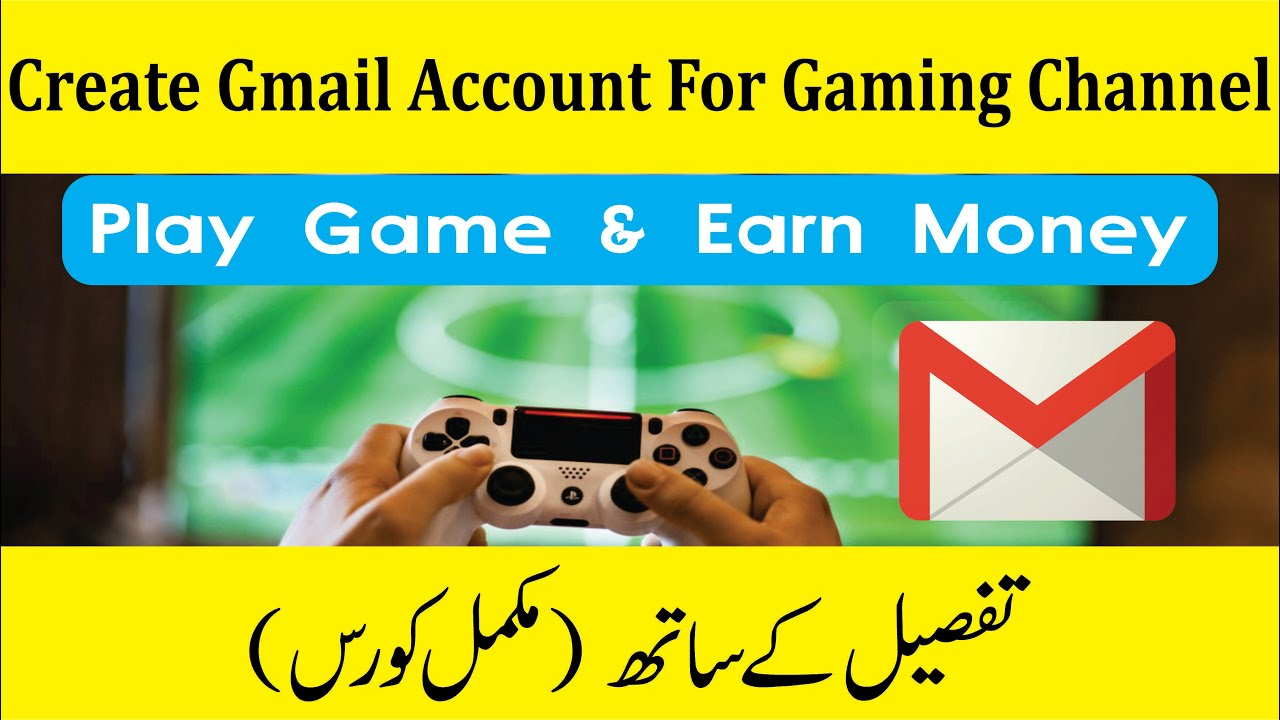 How to Create Gmail Account for Gaming Channel on Youtube Urdu/Hindi  (part-2)