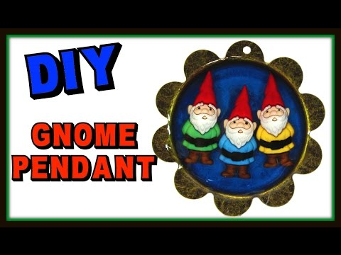 Gnome Pendant DIY   Resin Jewelry