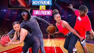 Boyfriends Vs Trash Talking Girlfriends!!! (2v2 Basketball) Ft Nique And King