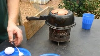 Easy Fire Building... No Lid Char Tin Char Cloth... Non-Stick Cooking on Pan's Carbon Build Up