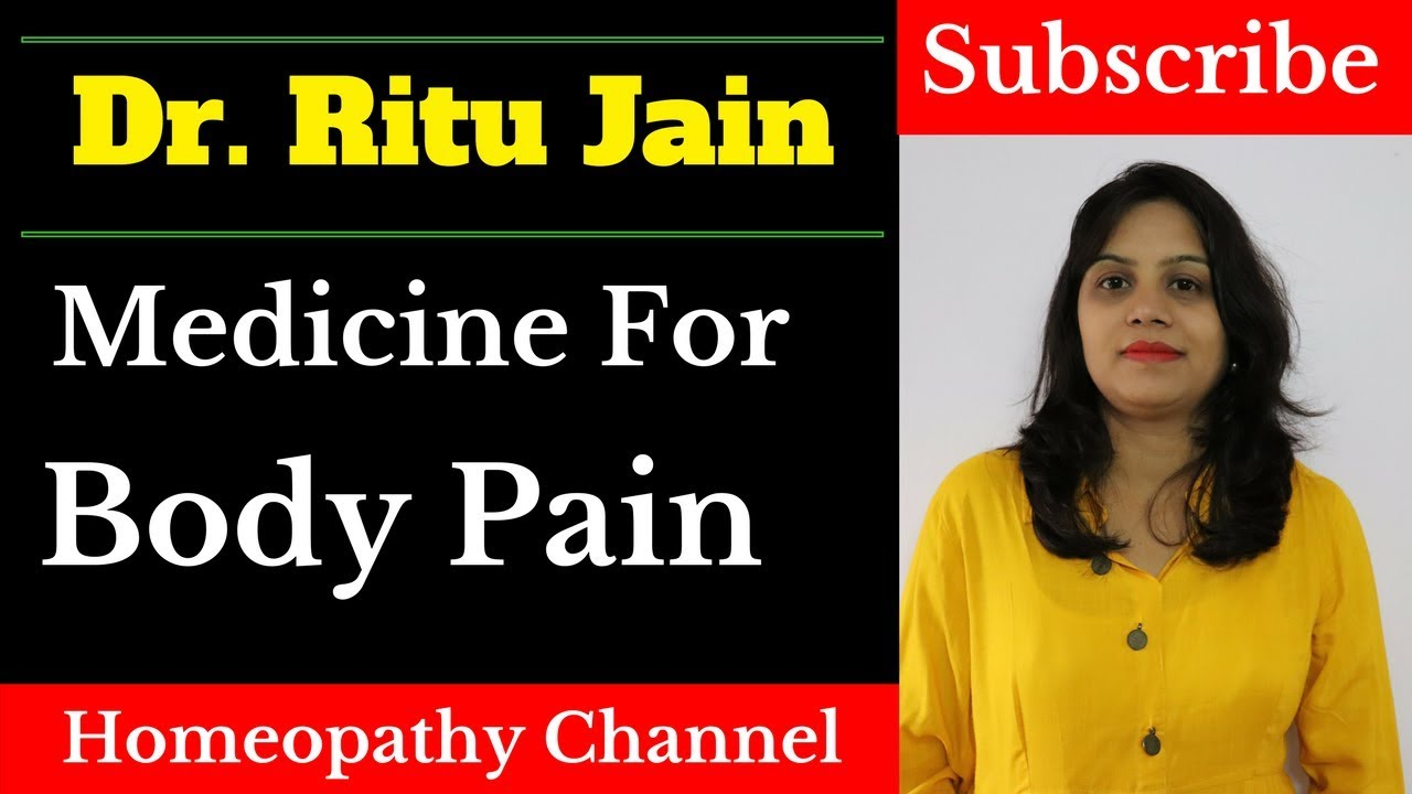 homeopathic medicine for muscle pain