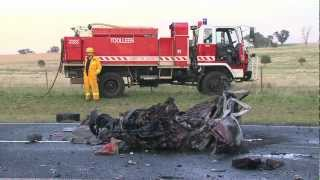Fatal overtaking collision in Myola near Bendigo. 14/03/12 Warning: Graphic images