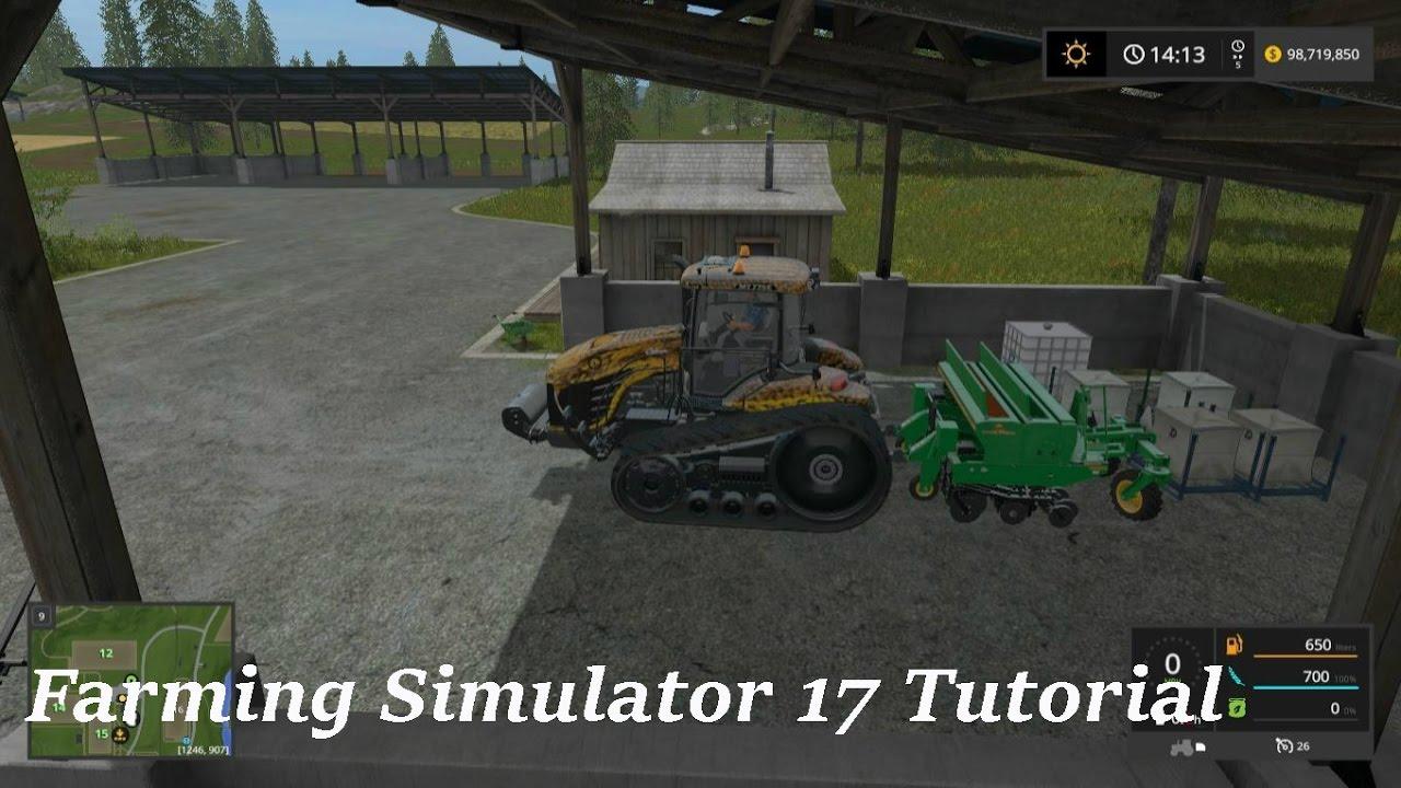 Farming Simulator 17 Tutorial How To Refill A Sower
