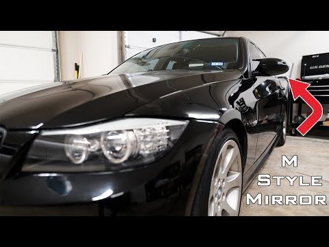 M3 Style Mirror Covers For Your E9X Pre LCI BMW!  DIY Install & Review