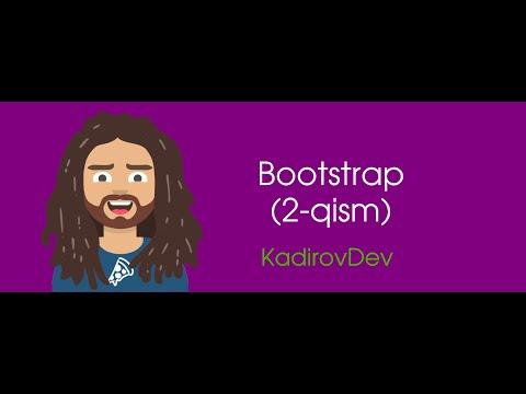 #8 – Bootstrap. 2-Qism. Veb-dasturlash kursi