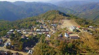 Bawktlang khua aerial view leh Kawlziki lungphun photos