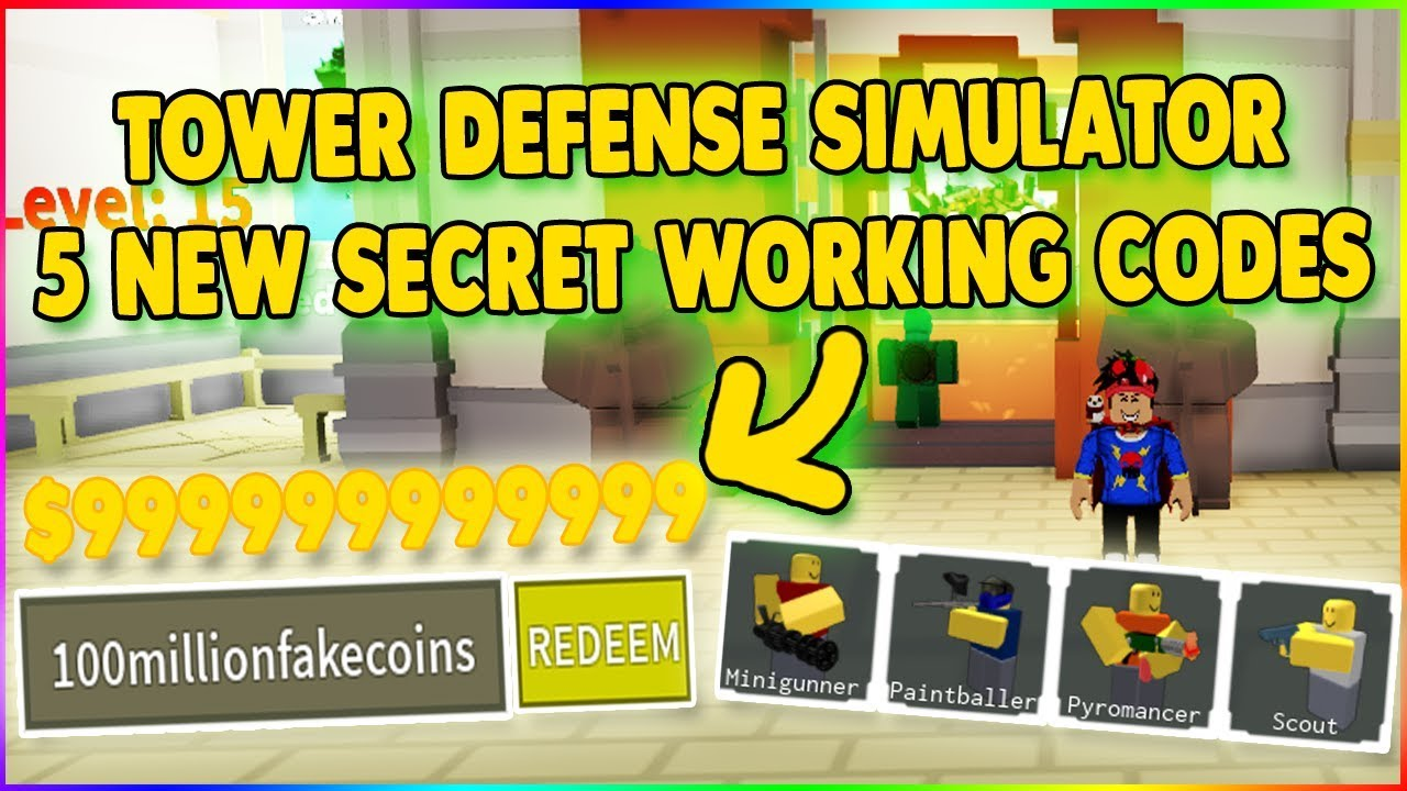*5 NEW SECRET CODES* TOWER DEFENSE SIMULATOR CODES ROBLOX