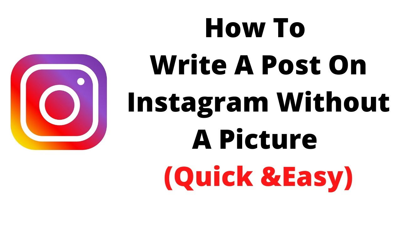 how to write a post on instagram without a picture - YouTube