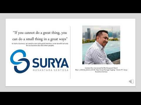 IPMI Business School - Aim2Flourish Video - PT  Surya Nusantara Sentosa