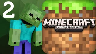 LOST IN THE WOODS!! Minecraft: Pocket Edition Part 2 (iPhone Gameplay)