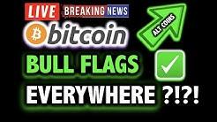 ✅ BITCOIN BULL FLAGS EVERYWHERE?!! ✅ALTCOINS?🔥LIVE Crypto Analysis TA/ BTC Cryptocurrency Price News