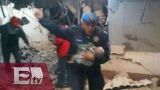 Policía rescata a bebé tras explosión en Hospital Infantil de Cuajimalpa (IMÁGENES)