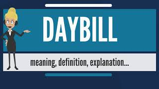What is DAYBILL? What does DAYBILL mean? DAYBILL meaning, definition & explanation