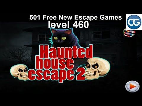 [Walkthrough] 501 Free New Escape Games Level 460 - Haunted House Escape 2 - Complete Game
