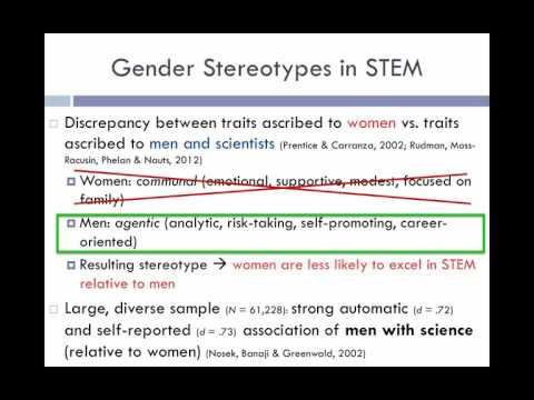 The Biases that Blind Us: How Gender Stereotypes Constrain Opportunities for Women in STEM