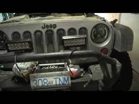 how to wire light bars or cubes to after market bumper jeep wrangler jk
