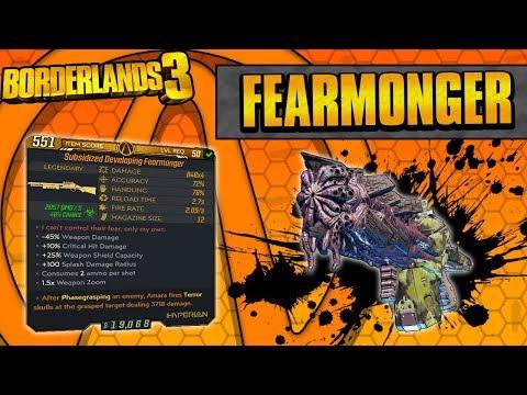 Borderlands 3   Fearmonger Legendary Weapon Guide (Bloody Harvest Event Item!)