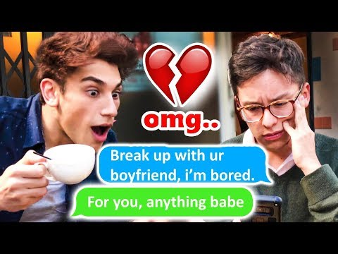 """BREAK UP WITH YOUR GIRLFRIEND"" Ariana Grande LYRIC PRANK ON MY FRIEND'S GIRLFRIEND"