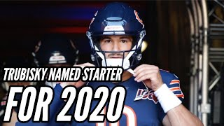 Mitch Trubisky Named Starting QB for 2020    Chicago Bears News