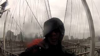 Bike riding NYC during Hurricane Sandy