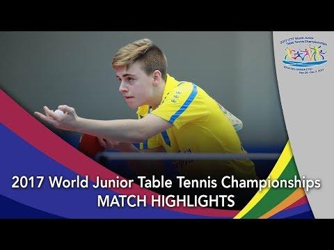 2017 World Junior Championships Highlights: Xue Fei vs Truls Moregard (Final)