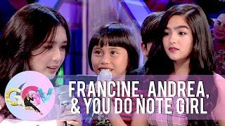 You Do Note girl exchanges lines with Andrea and Francine | GGV