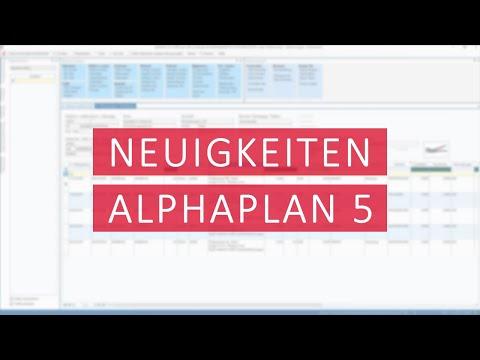 Neuigkeiten in ALPHAPLAN 5 - ALPHAPLAN Hausmesse [2020]