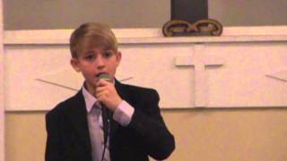 Collin Ray 14 Years Old Singing Thru The Fire