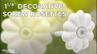 "1 1/8"" Decorative RV Screw Rosettes"