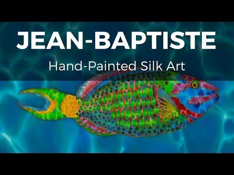 JEAN-BAPTISTE PAINTING ON SILK - PATREON ARTIST - PARROTFISH
