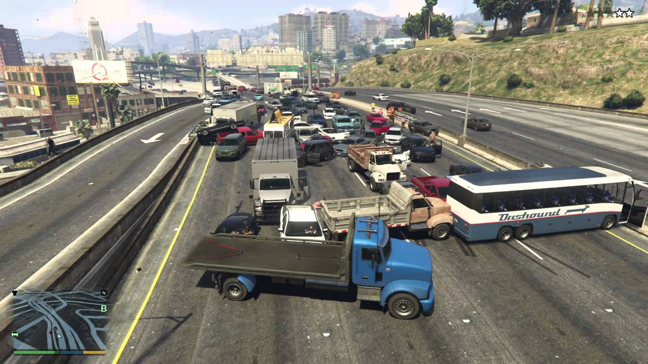 grand theft auto v traffic jam youtube. Black Bedroom Furniture Sets. Home Design Ideas