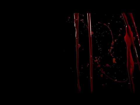 Black Screen Blood Effects Video
