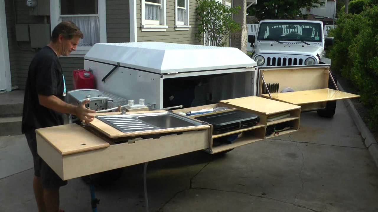 Camp Kitchens For Camper Trailers Dominion OffRoad Trailer Kitchen - YouTube
