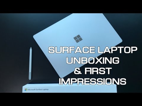 Thumbnail: MICROSOFT SURFACE LAPTOP UNBOXING & FIRST LOOK